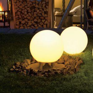 Gartenlautsprecher mit Licht