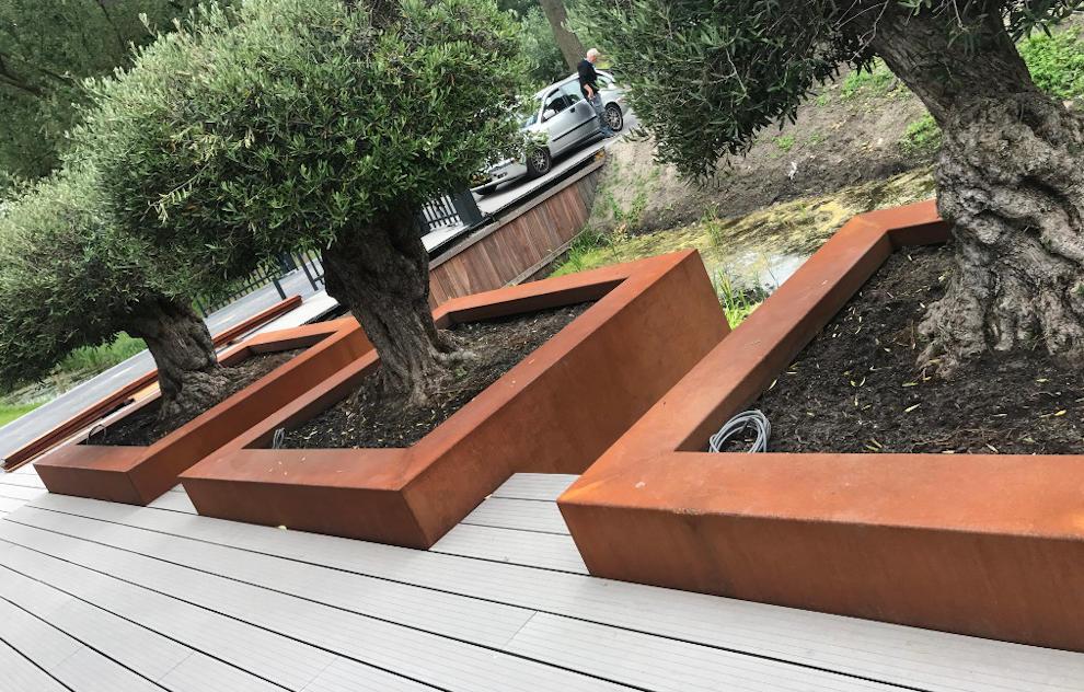 Cortenstahl in der Gartengestaltung 3