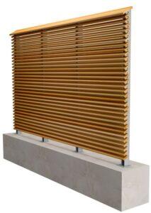 Sichtschutzwand System Cadex mit Accoya-Holz